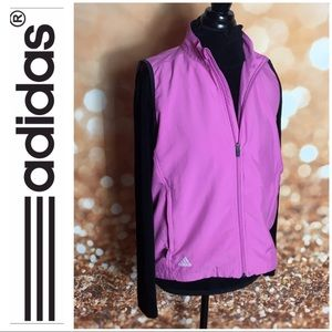 Adidas Climaproof Pink Vest Zip Up Size Medium
